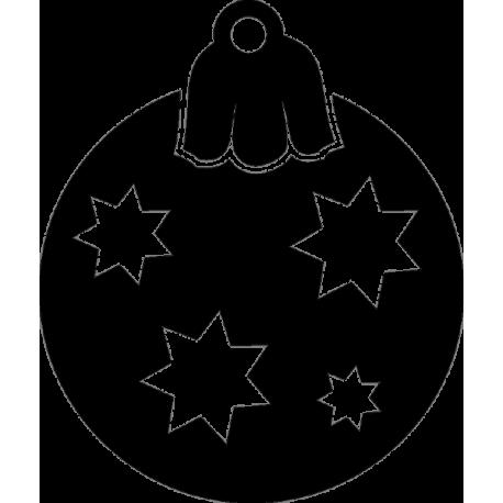 Игрушка для елки с рисунками звезд 2
