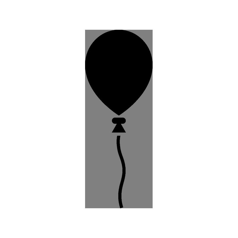 картинки силуэта шарика воздушного сценарий