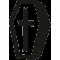 Гроб с Крестом на Хэллоуин