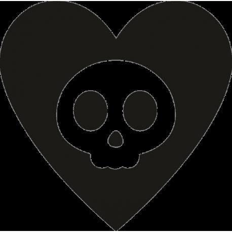 Череп в сердце