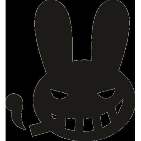 Заяц с сигаретой в зубах