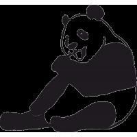 Сидящая Панда с высунутым Языком