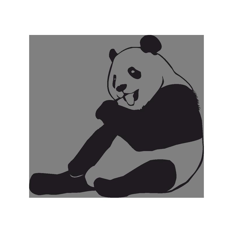 Картинки черно белая панда