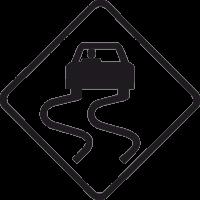 Дорожный Знак Скользкая Дорога