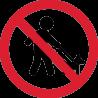 Знак Гулять с Собаками Запрещено 1