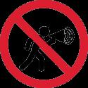Знак Громкоговоритель Запрещен 1