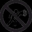 Знак Громкоговоритель Запрещен 2