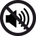 Знак Не слушать громкую Музыку 2