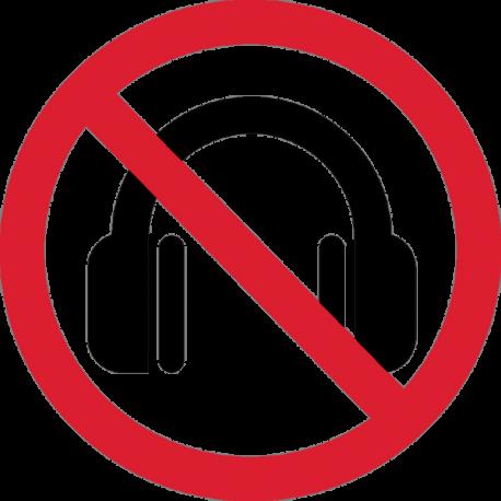Наушники Запрещены 1