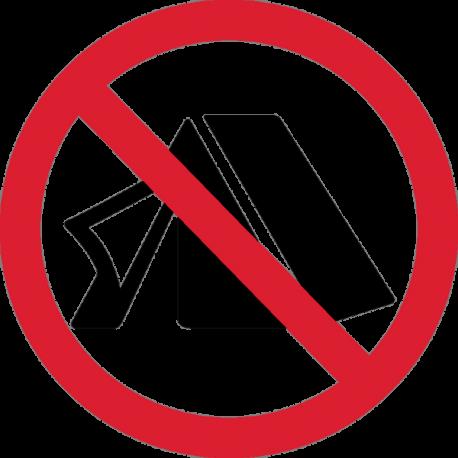 Знак Устраивать палатку Запрещено 1