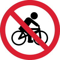 Ездить на Велосипеде Запрещено 1