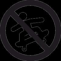 Знак Кататься на Скейте Запрещено 2