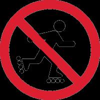 Знак кататься на Роликах Запрещено 1