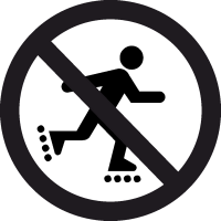 Знак кататься на Роликах Запрещено 2