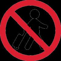Вход с багажом Запрещен 1