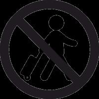 Вход с багажом Запрещен 2