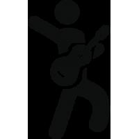 Человек играющий на Гитаре
