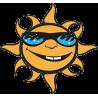 Улыбающиеся Солнце в Очках