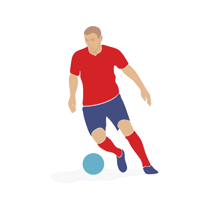 Картинка футболиста с мячом, днюхой