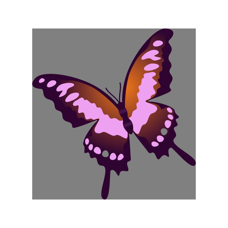 Картинка наклейка бабочка