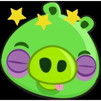 Свинья с подбитыми глазами из Angry Birds