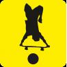 Начинающий водитель Скейтбордист