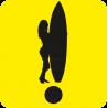 Начинающий водитель Серфингистка