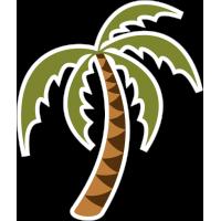 Пальма наклоненная влево