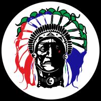 Портрет индейского вождя в круге