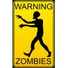 Знак внимание зомби