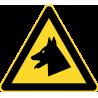 Знак осторожно собака