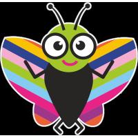 Весёлая бабочка