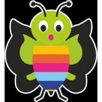 Удивлённая бабочка