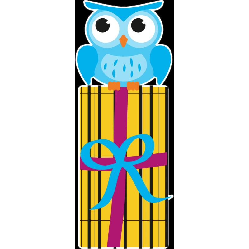 Картинка сова с подарком