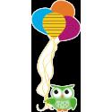 Сова с воздушными шариками
