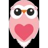 Розовый совёнок