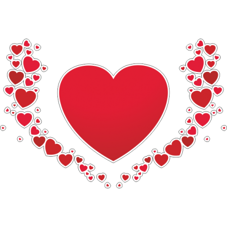 Коллаж из сердец