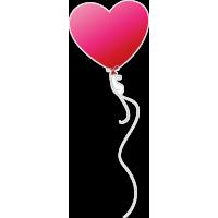 Воздушный шарик в виде сердца