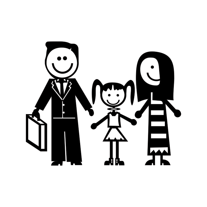 Картинки семья папа мама дочка