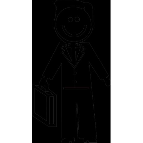 Папа с чемоданом