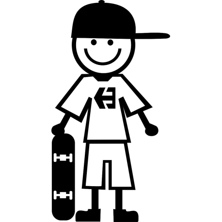 Мальчик со скейтом
