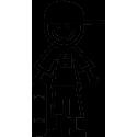 Мальчик-подросток со скейтом