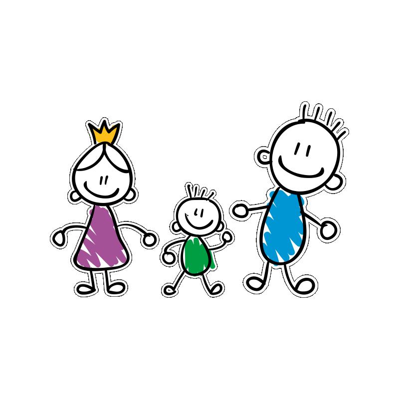 Работникам, рисунки смешной семьи