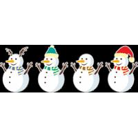 Семья снеговиков