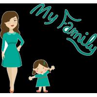 Моя семья - жена, дочь