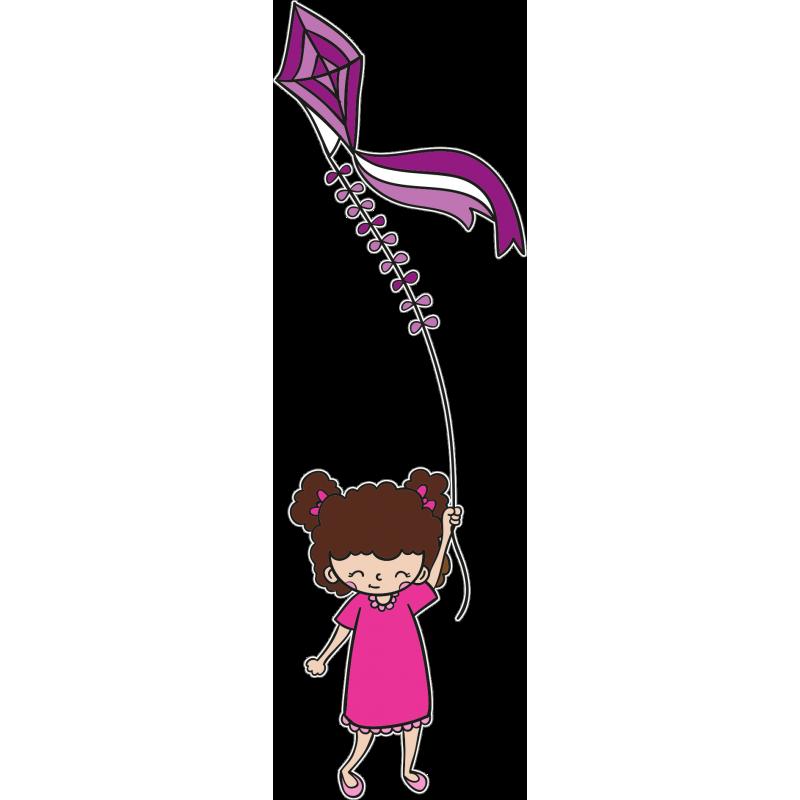 Картинка девочка с воздушным змеем
