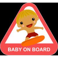 Baby on board - ребенок на серфе