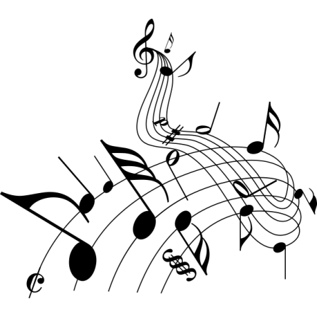 Коллаж из нотных знаков 2