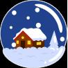 Домик в новогоднюю ночь