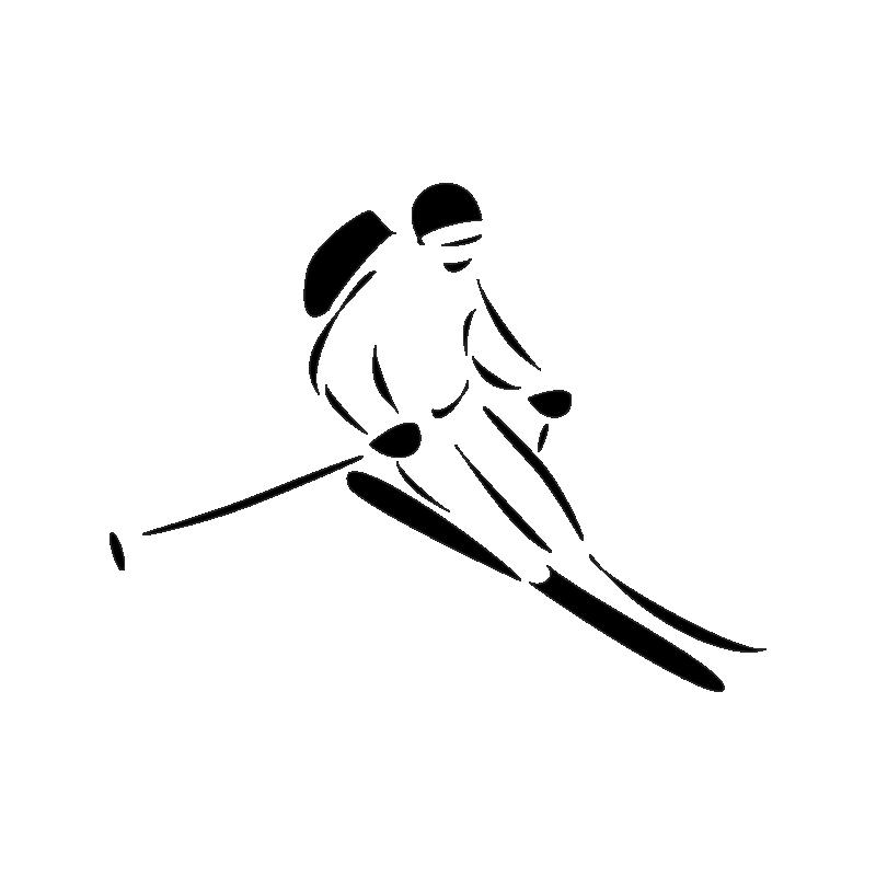 картинки в векторе лыжи